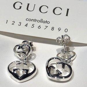 7836a4a1a1bec NWT GUCCI Love Britt Double G Earrings